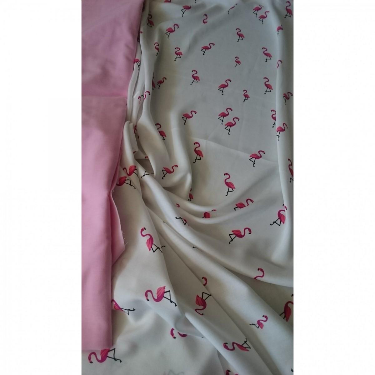 Штапель Розовый Фламинго